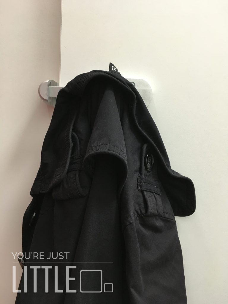 You're Just Little - Changing room lock coat hanging