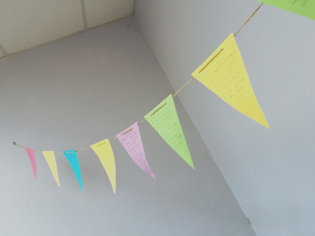 UNION19 - Bunting with our questions and thoughts on from Working from Within
