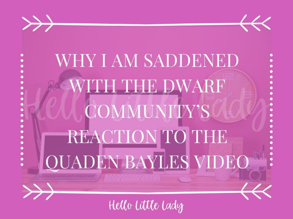 Why I am saddened by the Dwarf Community's reaction to the Quaden Bayle video