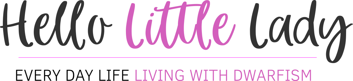 Hello Little Lady logo - Everyday Life Living With Dwarfism