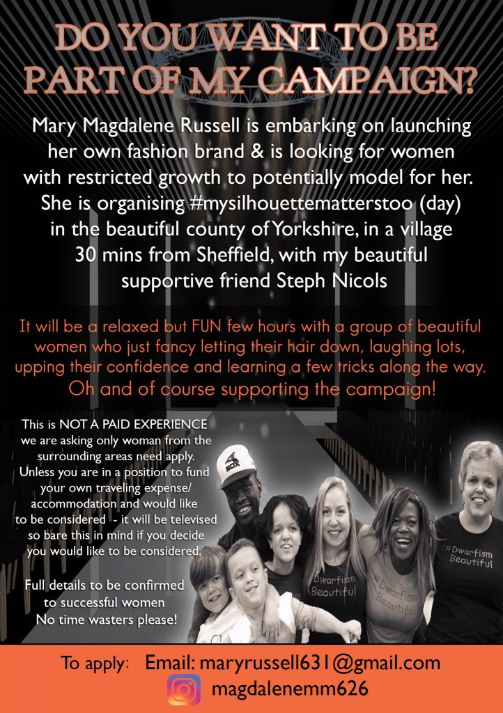 Mary Russell's mysilhouettematterstoo campaign leaflet