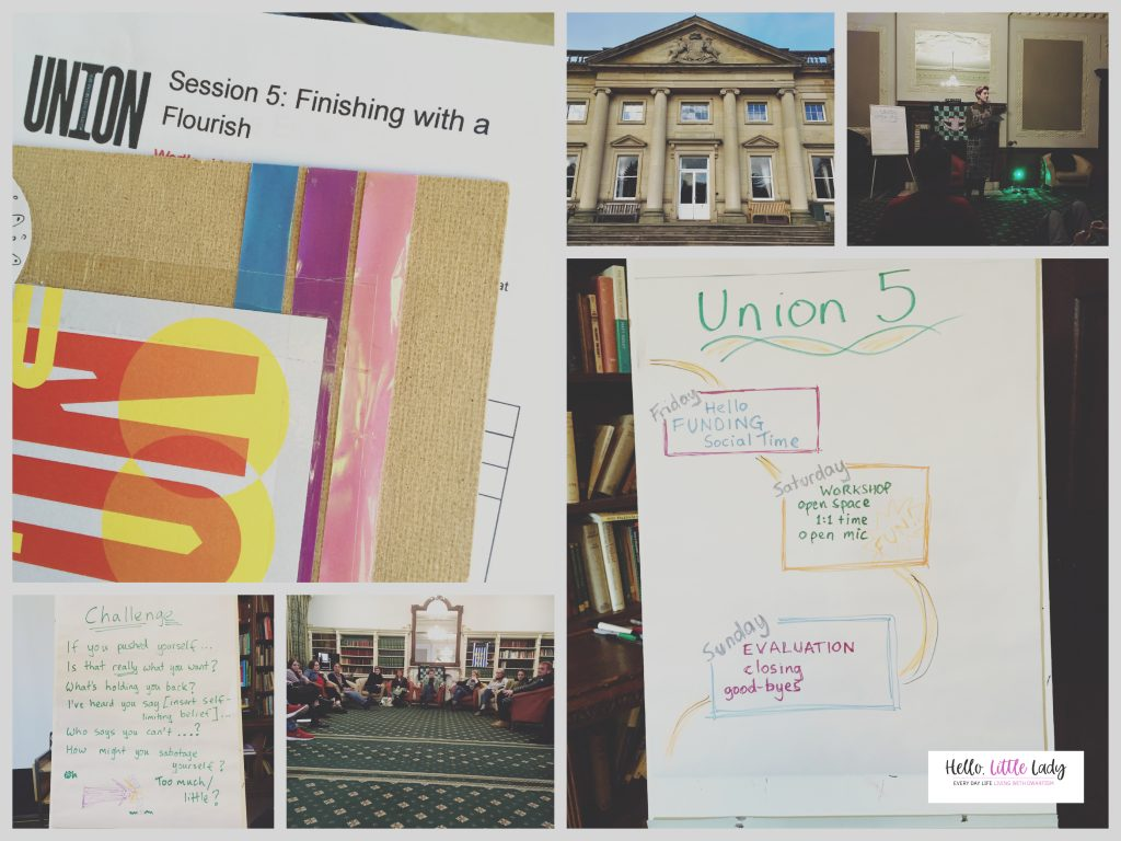 Montage of final UNION19 creative activism weekend at Wortley Hall